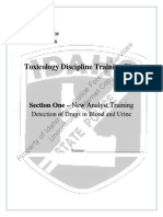 Section 1 Blood Urine Toxicology Training Plan Rev 7