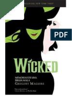 Wicked, Memorias de Una Bruja Mala - Gregory Maguire