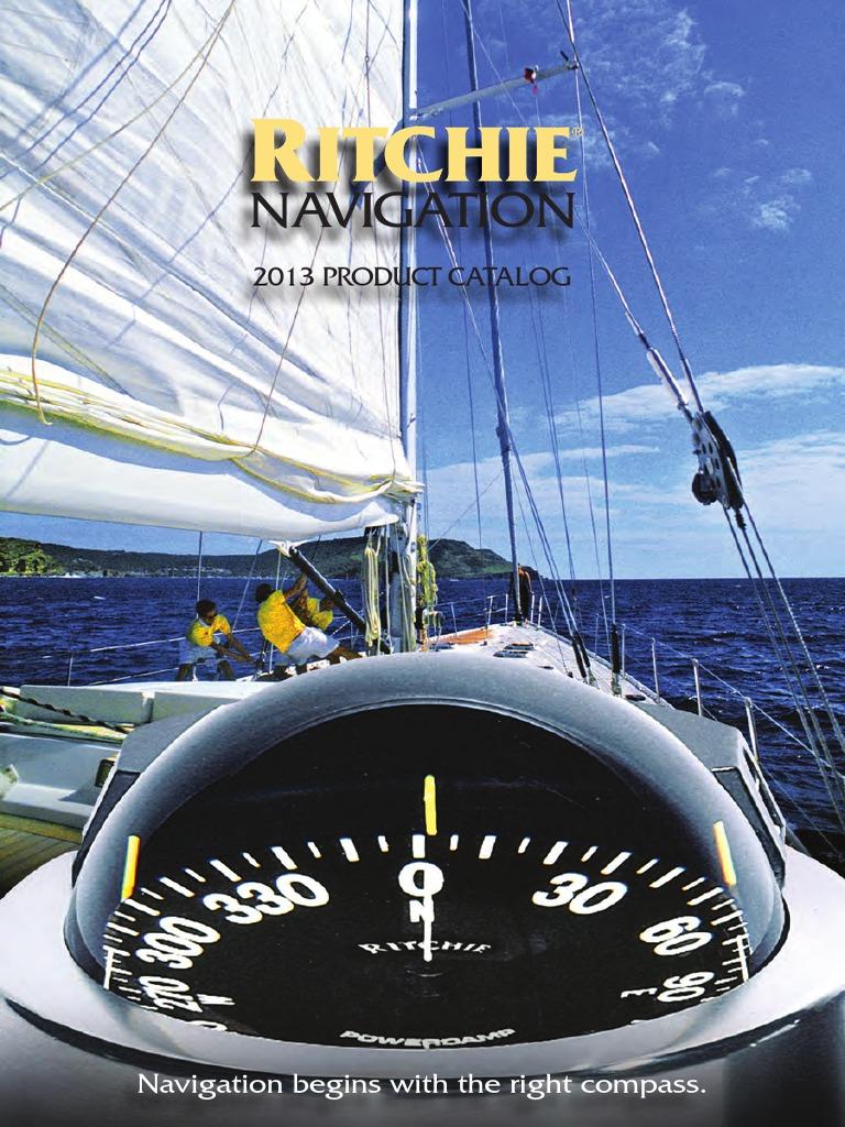 "Ritchie V-57 Dash Mount Marine Compass White 2-3//4/"""