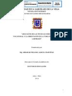APLICACIÓN DE LAS TÉCNICAS LÚDICAS VOCATIONAL Y LA ORIENTACIÓN EN LA TOMA DE DECISIONES LABORALES