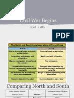 Notes - Civil War Begins