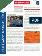 Micro Gravity Research Program Infopage