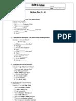 Written Test 1 J1