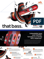 Sony Walkman B series Brochure