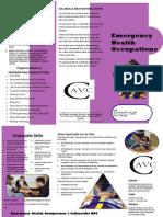 Emergency Health Occupations Brochure CAVC