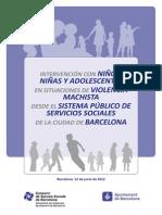 Intervencion Con Ninos Ninas y Adolescentes en Situaciones de Violencia Machista