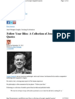 Follow Your Bliss a Collection of Joseph Campbell Quotes