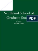 2013-2014 School of Graduate Studies Catalog