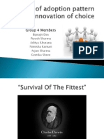 Analysis of Adoption Pattern of an Innovation Of