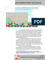 Chromebook vs. Windows notebook network traffic analysis