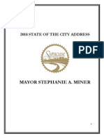 Mayor Miner's 2014 State of the City Address