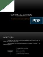 CONTROLE DA CORROSÃO