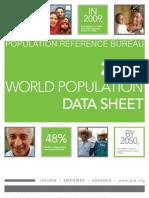 The 2009 World Population Data sheet...