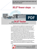 Migrate server identities and data access 34 percent faster with Cisco UCS and with 83 percent fewer steps than HP