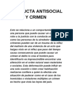 Conducta Antisocial y Crimen