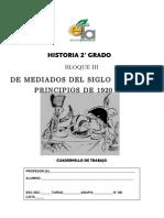 Cuadernillo de Trabajo Historia 2do. Grado Bloque III