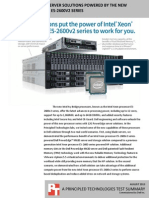 Advantages of Dell server solutions powered by the new Intel Xeon processor E5-2600v2 series