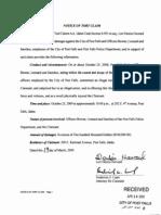Lori Howard Tort Claim against Frank G. Bowne and Post Falls PD