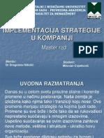 Implementacija Strategije u Kompaniji
