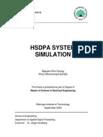 HSDPA System Simulation