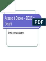 Acesso a Dados ZEOS x Delphi
