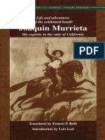Life and Adventures of the Celebrated Bandit Joaquin Murrieta by Ireneo Paz