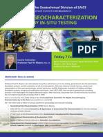 SAICE Geotech in-Situ Training Announcement