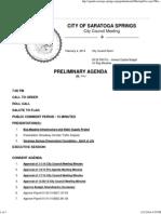 2-4-14 Preliminary City Council Agenda