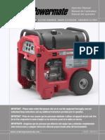 Coleman Powermate 6560 PMO645250 Owners Manual