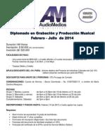 Diplomado en Grabación y Producción Musical 2014
