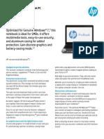 HP ProBook 4540s Datasheet