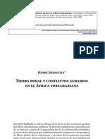Tierrarural y Conflictos Agrarios en El Africa Subsariana