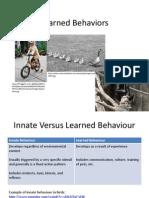 learned behaviour