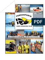 Perranporth Surf Lifesaving Club Members Handbook 2012