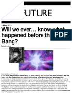 BBC - What Came Before the Big Bang
