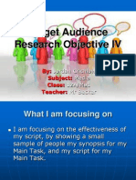 Target Audience Research Objective IV