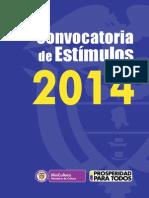 Convocatoria de Estímulos 2014