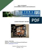 Light intensity meter project report
