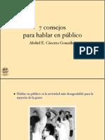 SIETE CONSEJOS DE COMO HABLAR EN PUBLICO