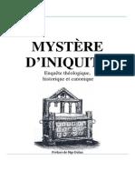 Livre Mystere Iniquite