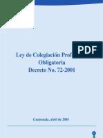 LEY DE COLEGIACION PROFESIONAL