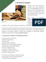 Lista Los 100 Mejores Libros de Todos Los Tiempos
