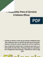7 Requisitos Para El Servicio Cristiano Eficaz