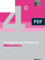 Estándares de Aprendizaje Matemática 4º básico - Decreto 129_2013