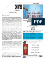 St. Augustine Catholic Church Sunday Bulletin, February 2, 2014