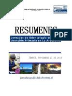 Resumen Jornadas de Odontologiìa en Atencioìn Primaria-3