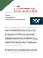 Eduard Bernstein - Passing of Marxian Orthodoxy [Bernstein-Kautsky-Luxemburg-Lenin]