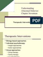 Understanding Abnormal Behavior Chapter Seventeen