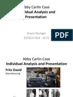 Abby Carlin Corp - Presentation