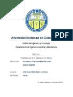 Tarea 01 Jose Guillermo Orozco Lechuga Realidad Actual de la Manufactura en México